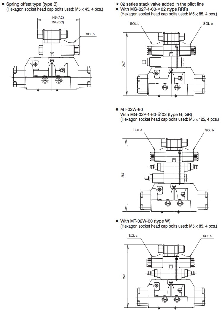 Daikin - Solenoid Operated Directional Control Valves - KSH Series Valves - Drawing 4