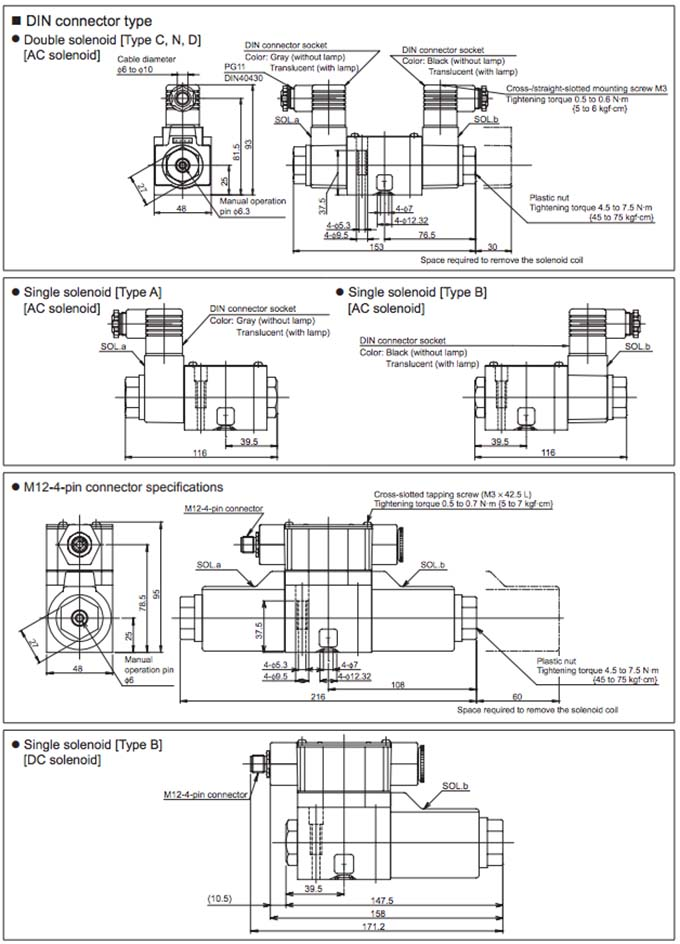 Daikin - Solenoid Operated Directional Control Valves - LS Series Valves - Drawing 2