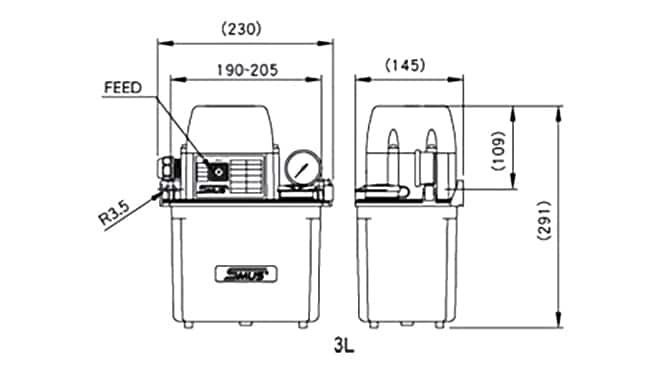 Ishan Lubrication - SST-B2 Lubrication Pump - Drawing 1