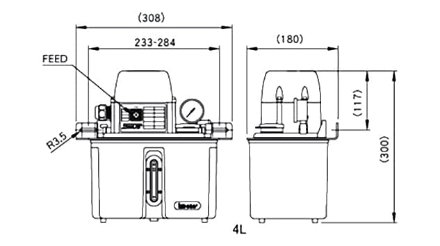 Ishan Lubrication - SST-B2 Lubrication Pump - Drawing 2