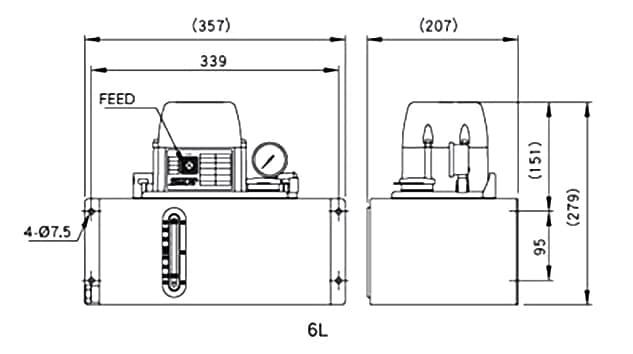 Ishan Lubrication - SST-B2 Lubrication Pump - Drawing 3