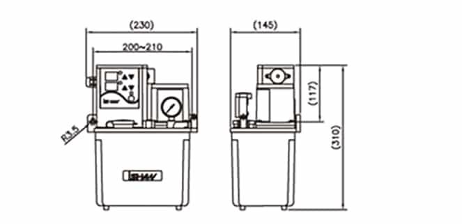 Ishan Lubrication - YAK-3 Lubrication Pump - Drawing