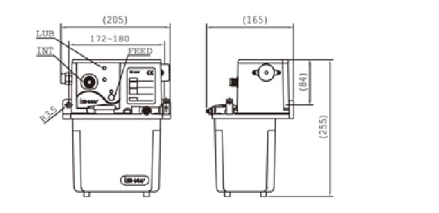 Ishan Lubrication - YET-E Lubrication Pump - Drawing